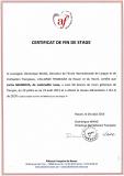 CERTIFICAT DE FIN DE STAGE