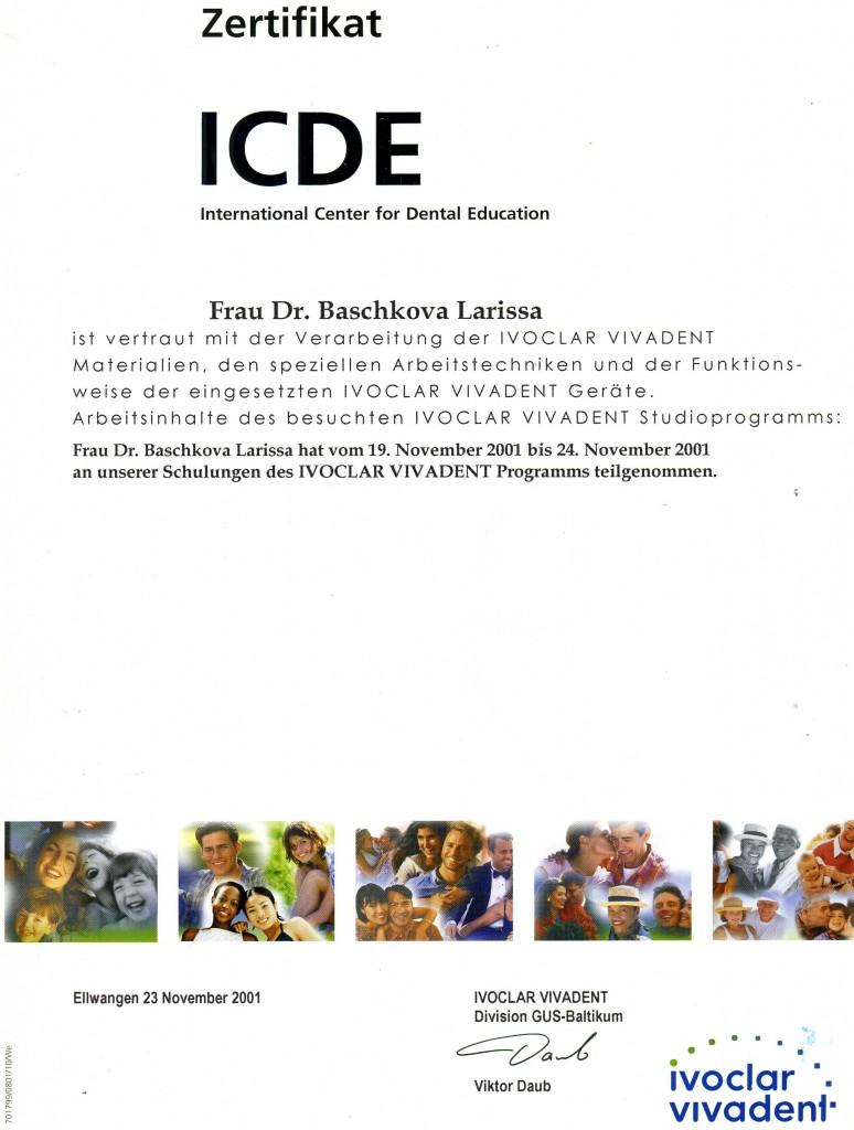 Zertificat ICDE